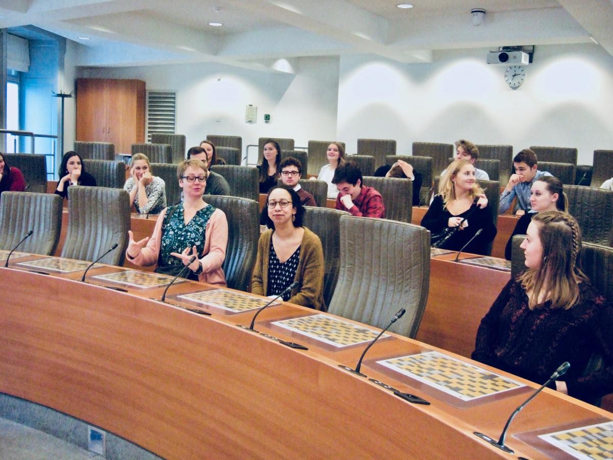 Bezoek van het Vlaams Parlement
